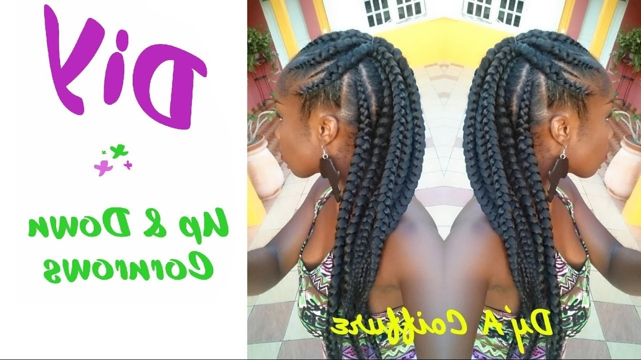Recent Half Up Half Down Cornrows Hairstyles For Diy ☆ Up & Down Cornrows Dy'a – Youtube (View 2 of 15)