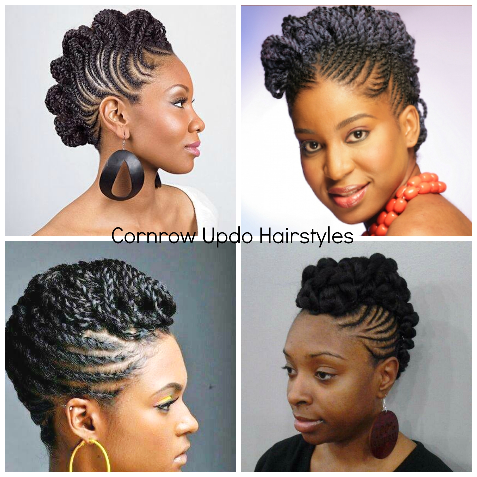 Recent Natural Updo Cornrow Hairstyles Pertaining To Brilliant Ideas Of Natural Cornrow Hairstyles Gallery Creative (View 15 of 15)