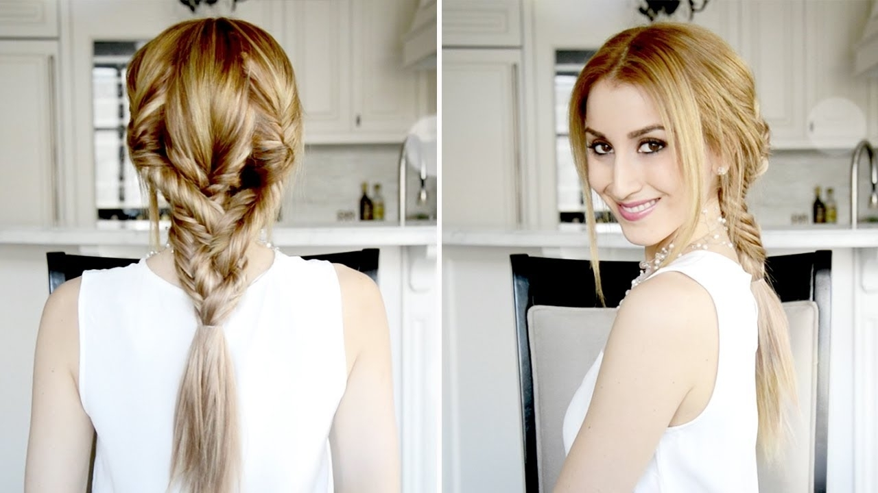 Recent Triple The Braids Hairstyles For Triple Fishtail Braided Hairstyle (Gallery 9 of 15)