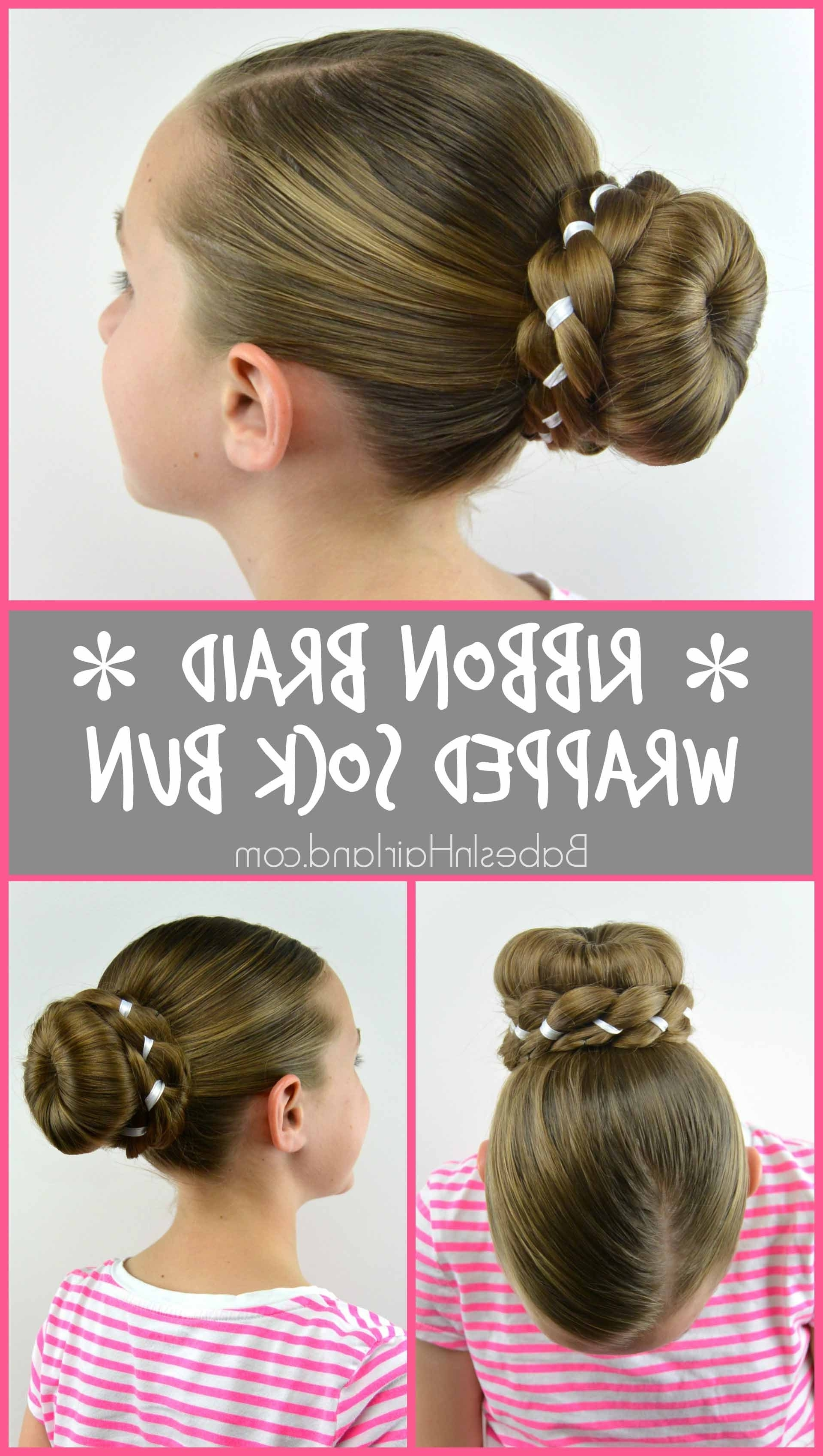Ribbon Braid Wrapped Sock Bun – Babes In Hairland Regarding Recent Donut Bun Hairstyles With Braid Around (View 13 of 15)