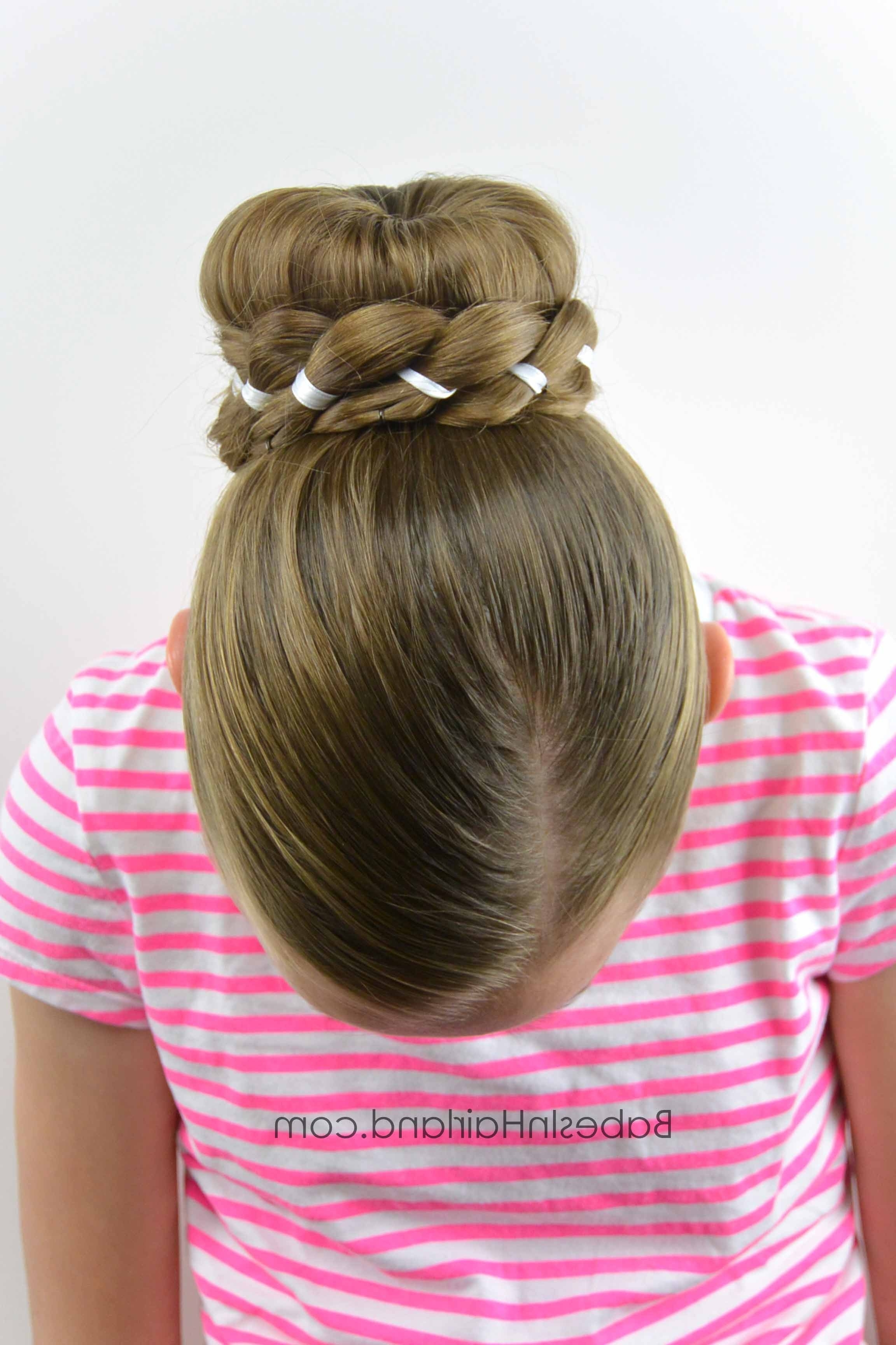 Ribbon Braid Wrapped Sock Bun – Babes In Hairland With Regard To Well Known Donut Bun Hairstyles With Braid Around (View 14 of 15)