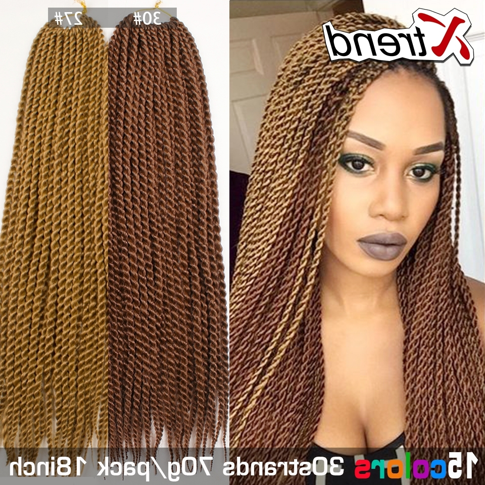 Senegalese Twist Hair Synthetic Ombre Kanekalon Jumbo Braiding Hair Inside Most Recently Released Multicolored Jumbo Braid Hairstyles (View 12 of 15)
