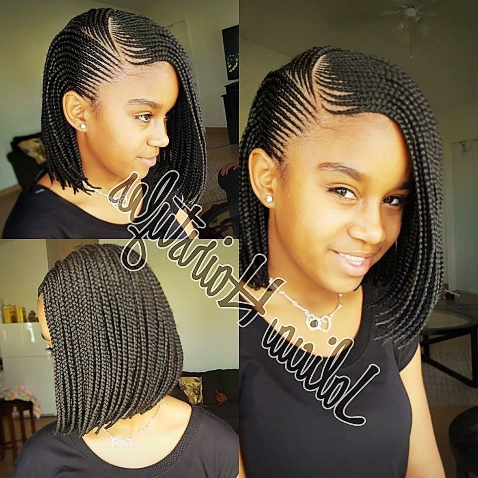 She Used Jbco On A Twa Twist Out, But The Style She Got Out Of It Inside Favorite Chic Braided Bob Hairstyles (View 5 of 15)