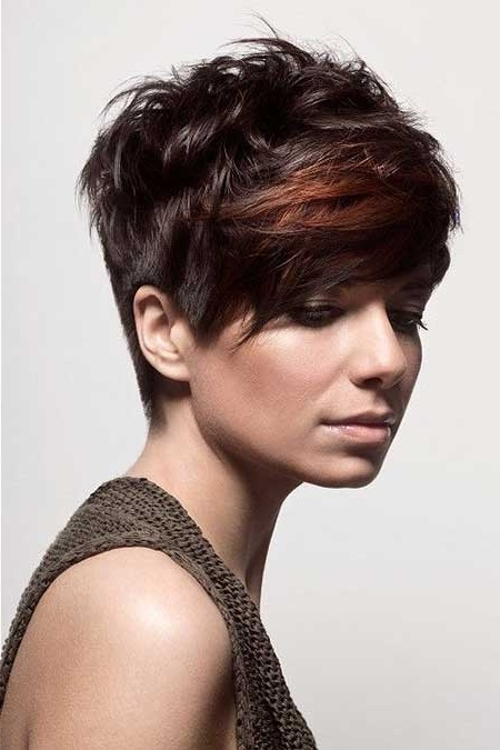 Short Hairstyles 2017 – 2018 In Well Known Silver And Brown Pixie Haircuts (View 13 of 15)