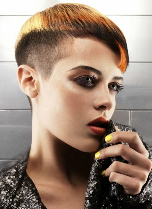 Short, Pixie Haircut With Shaved Sides And High Fade (View 13 of 15)