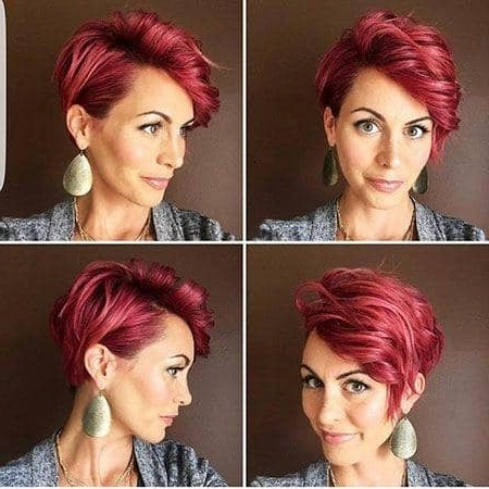 Short Pixie Haircuts 2018 – 2019 Short And Cuts Hairstyles With Regard To 2018 Ravishing Red Pixie Haircuts (View 15 of 15)