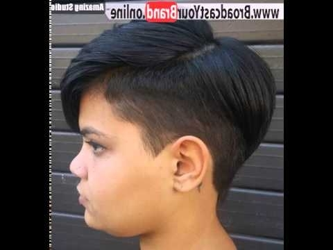 Short Sassy Frauen Haircut Mit Tempel Undercut – Youtube In Well Known Sassy Undercut Pixie With Bangs (View 13 of 15)