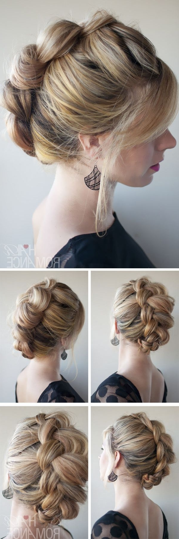 Side Braid With Short Curly Hair How To French Braid Curly Hair With Regard To Most Current Sculptural Punky Ponytail Braids (View 11 of 15)