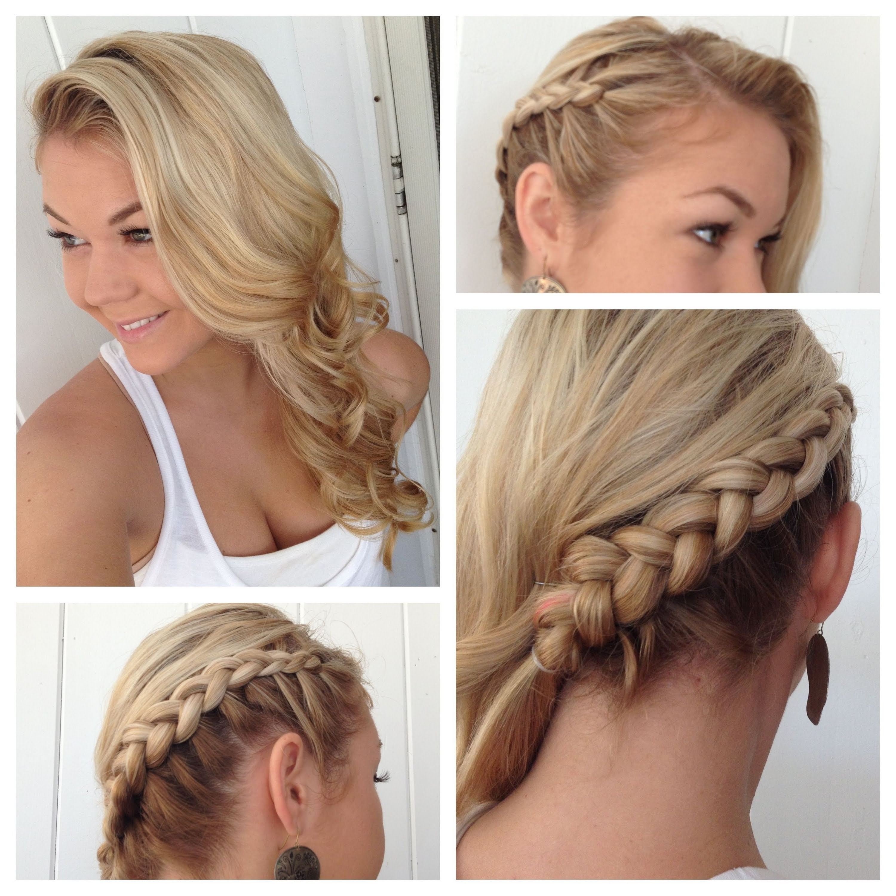 Side Dutch Braid To The Back Into Classic Curls – Youtube Intended For Favorite Loose Side French Braid Hairstyles (View 13 of 15)