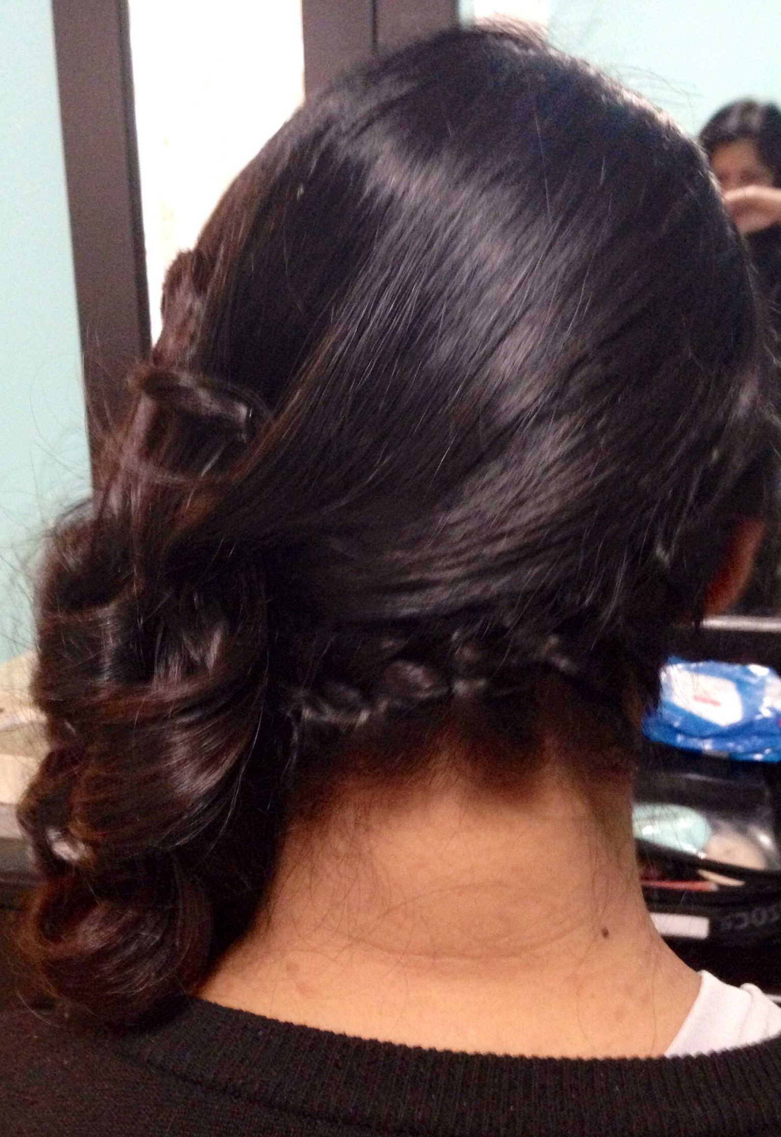 Side French Braid Hairstyle, Side Swept With Curls Wedding Hairstyle Intended For Well Known French Braid Hairstyles With Curls (View 12 of 15)