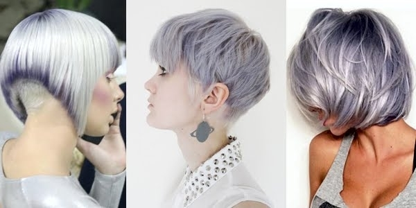 Silver Shades For Short Haircuts!!! – The Haircut Web With Regard To Favorite Silver And Brown Pixie Haircuts (View 14 of 15)