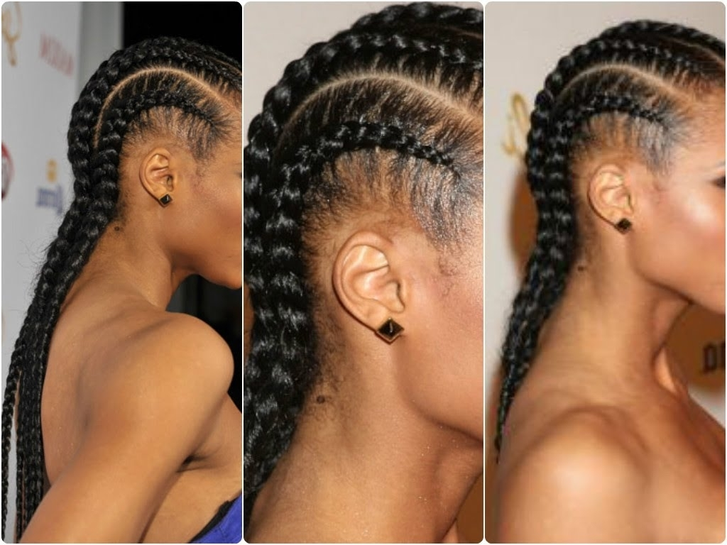 Simple And Easy: Cornrow Tutorial ♡ – Youtube Throughout Most Current Chunky Cornrows Hairstyles (View 5 of 15)