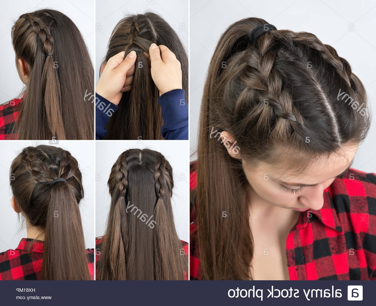 Simple Braided Hairstyle Tutorial Stepstep (View 10 of 15)