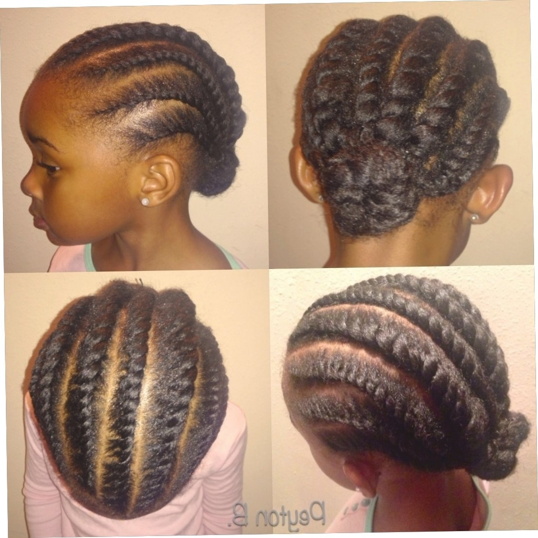 Simple Cornrow Hairstyles For Natural Hair  Image With Prime With Regard To Most Current Natural Cornrow Hairstyles (View 15 of 15)