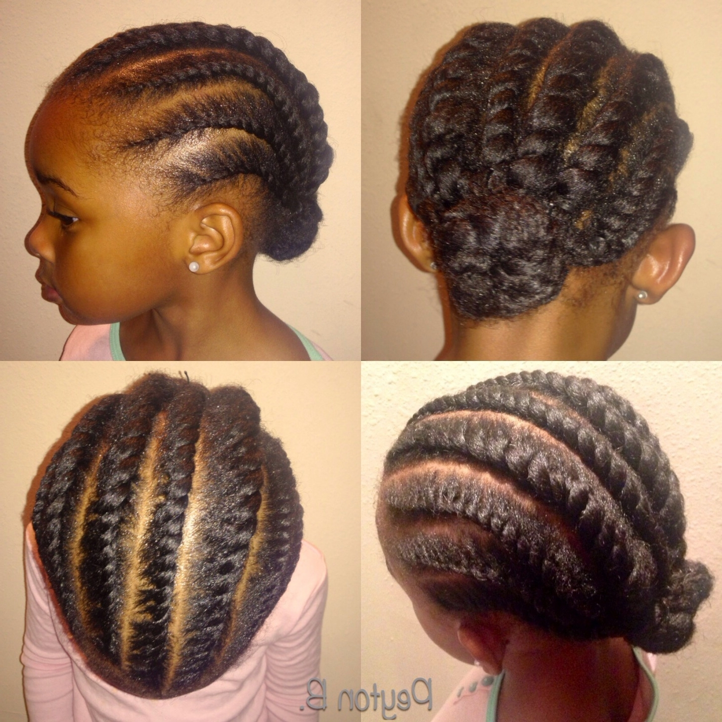 Simple Cornrows For Natural Hair – Girly Hairstyle Inspiration Within Current Simple Cornrows Hairstyles (View 12 of 15)