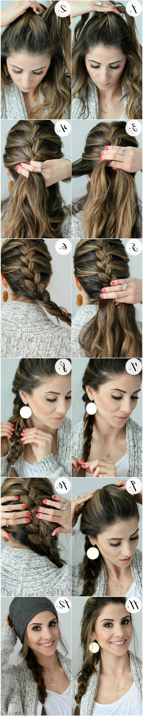 Simple French Braid Tutorial (View 14 of 15)
