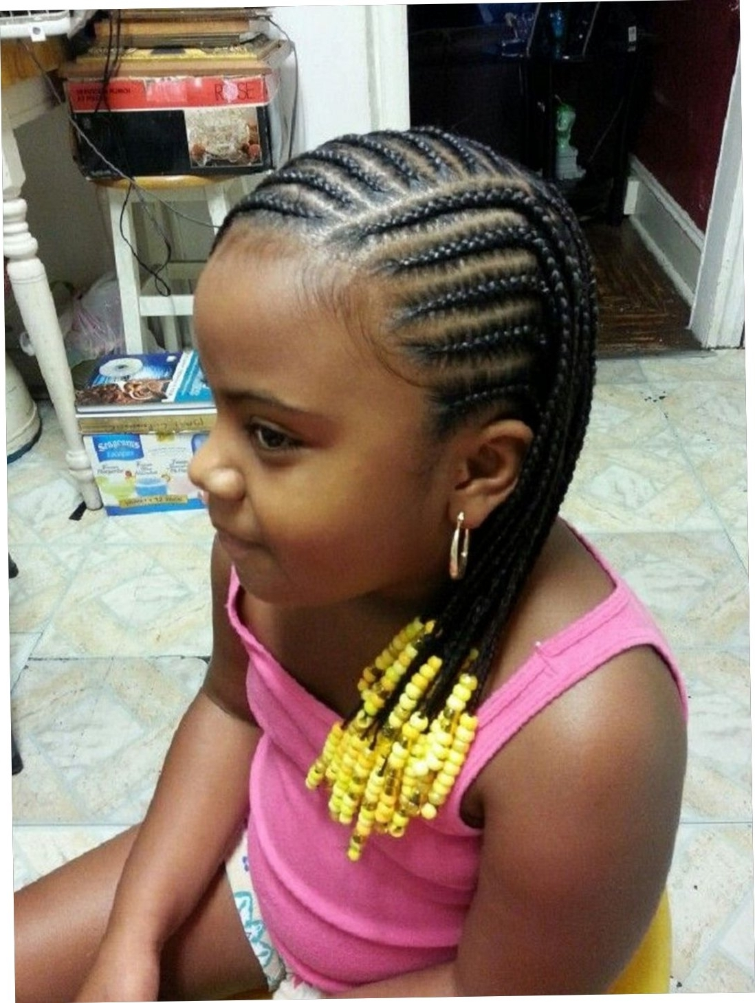 Simple Hairstyle For Cornrow Hairstyles For Little Girls Large Throughout Well Known Cornrow Hairstyles For Little Girl (View 12 of 15)