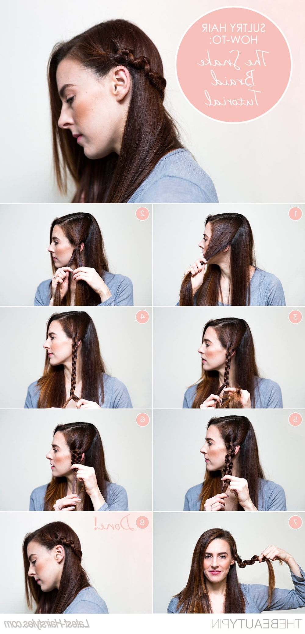 Snake Braid Hair Tutorial — Posh Beauty Blog Regarding Most Recent Snake Braids Hairstyles (View 14 of 15)