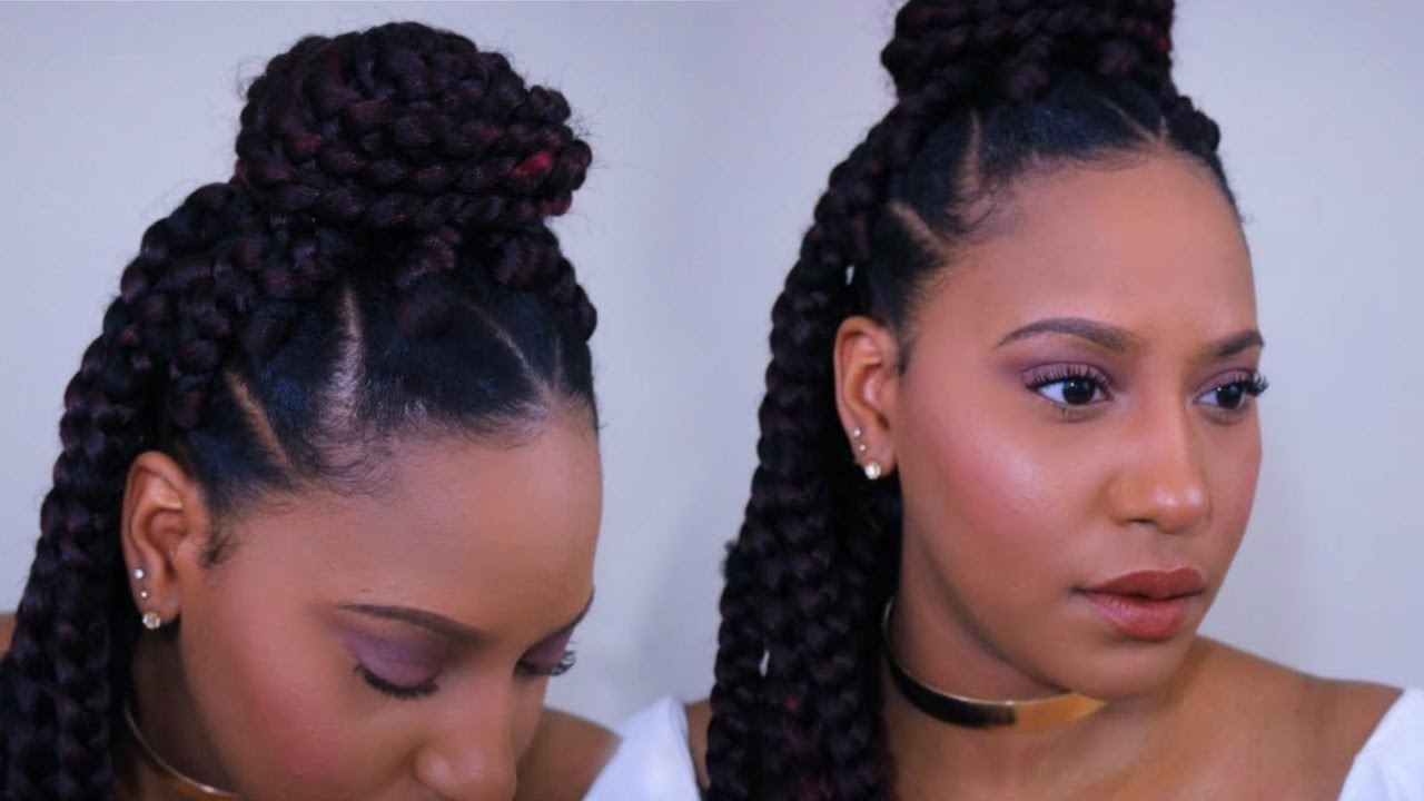 Spetra Ezbraid Pre Stretched Braiding Hair Inside Widely Used Triangle Box Braids Hairstyles (View 11 of 15)