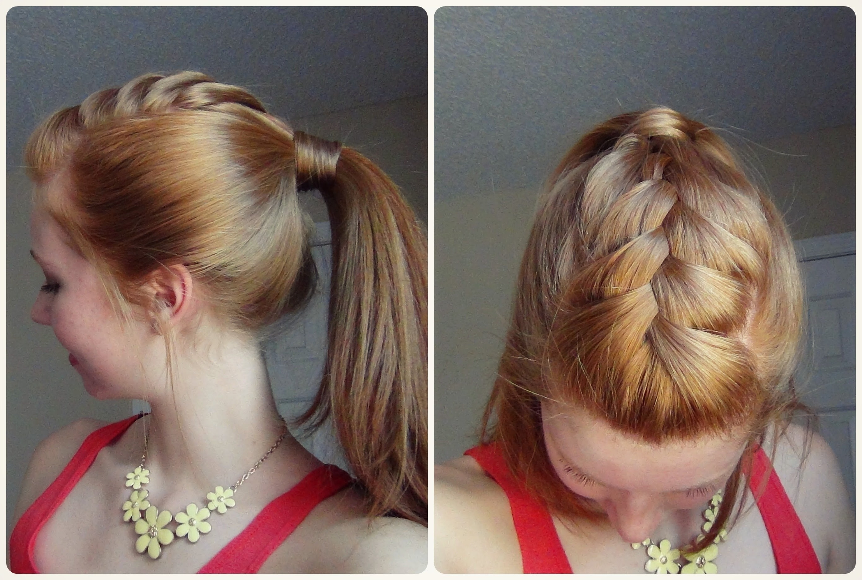 Spring Hairstyle – Ponytail With French Braid! ♥ – Youtube With Favorite Braid Into Pony Hairstyles (View 13 of 15)