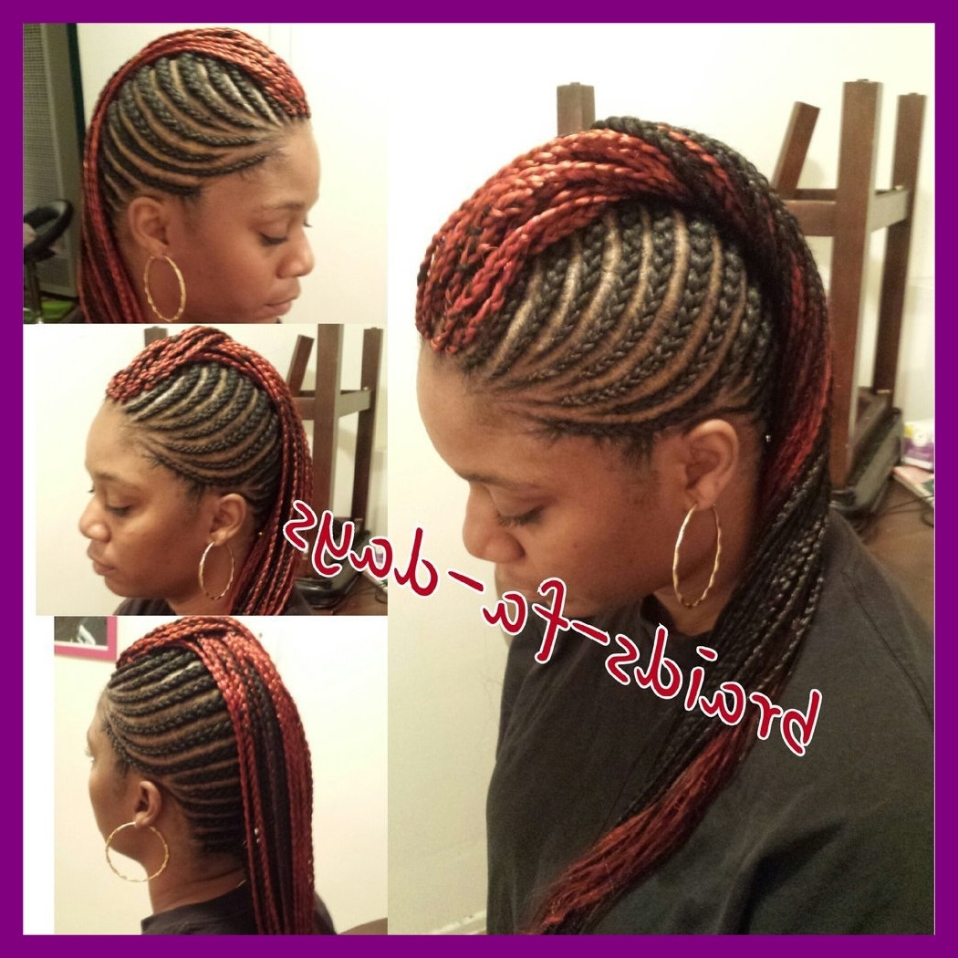 Stunning Mohawk Box Braids Cornrows Braided Pic Of Hairstyles For Regarding 2017 Box Braids And Cornrows Mohawk Hairstyles (View 13 of 15)