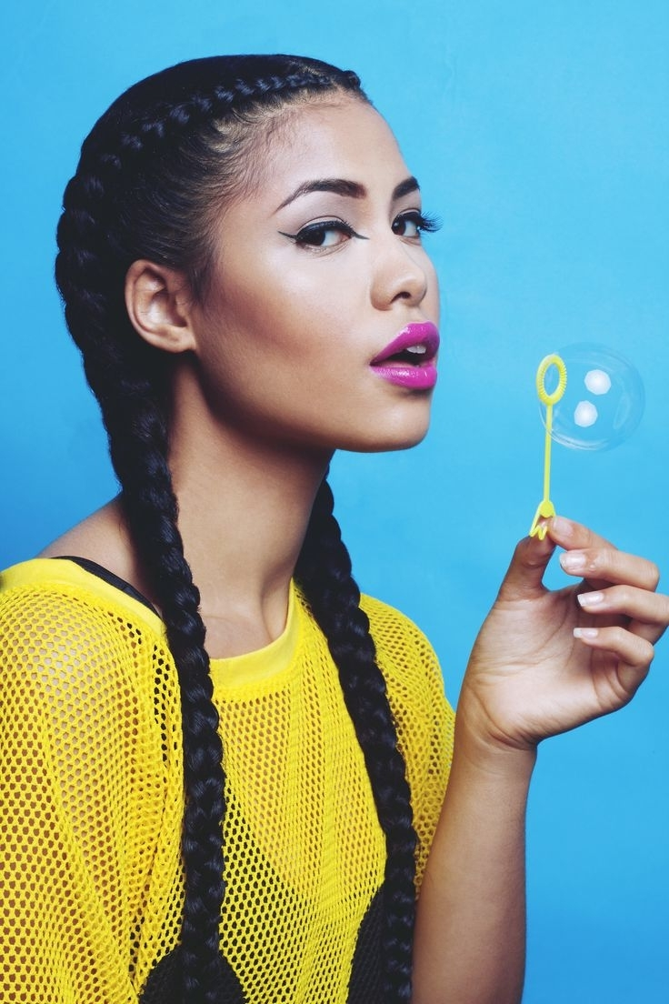 Stylish Summer Braided Hairstyles – Badu Of Eden House With Most Recently Released Chunky Two French Braid Hairstyles (View 13 of 15)
