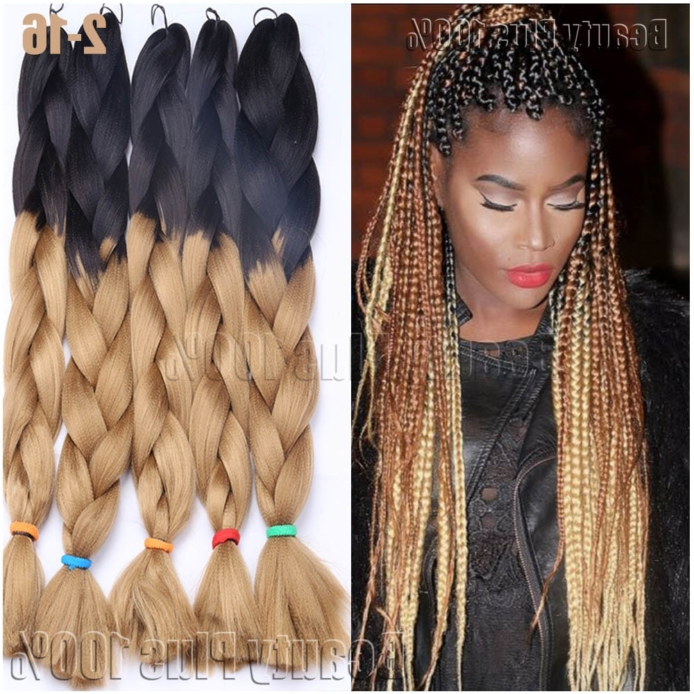 "Synthetic Braiding Hair 24"" Box Braids 100G Hair Extension Jumbo With Regard To Most Current Multicolored Jumbo Braid Hairstyles (View 14 of 15)"