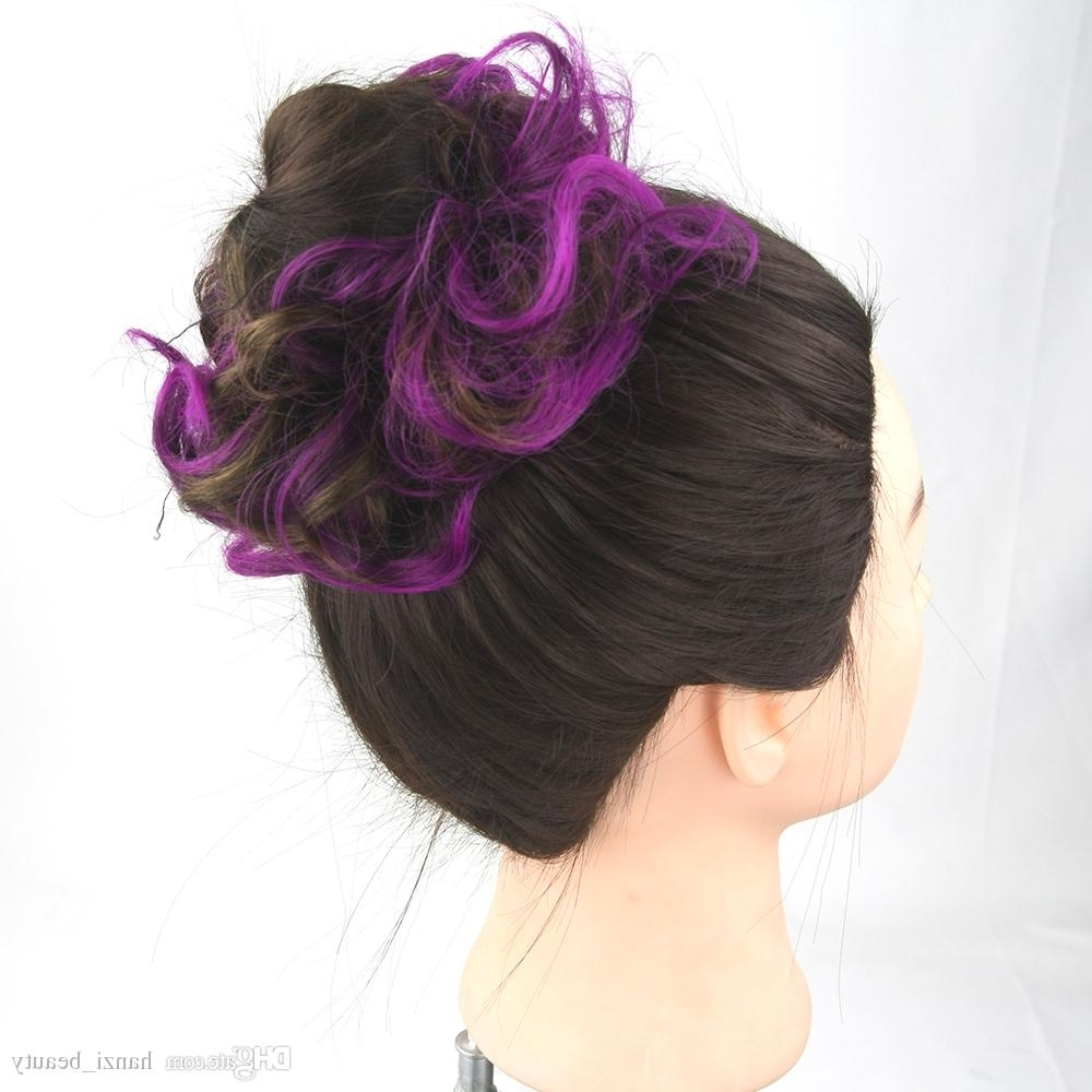 Synthetic Hair Headband Hair Bun Chignon High Temperature Fiber Hair With Newest Large High Bun With A Headband (View 12 of 15)