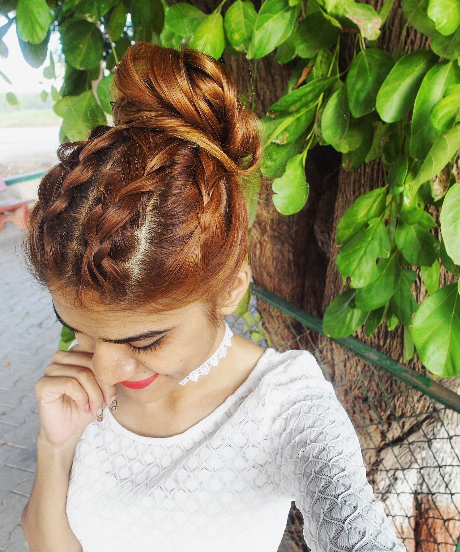 Tanvi Vayla » Double Twin Dutch Braid With Bun For Popular Twin Braid Updo Hairstyles (View 14 of 15)