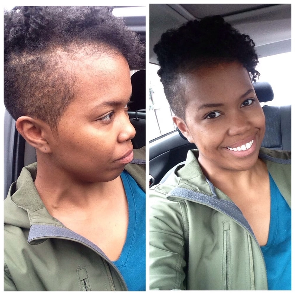 Tapered Cut With Shaved Sides And A Twist Out/perm Rod Set – Yelp Pertaining To Popular Braided Hairstyles With Tapered Sides (View 15 of 15)
