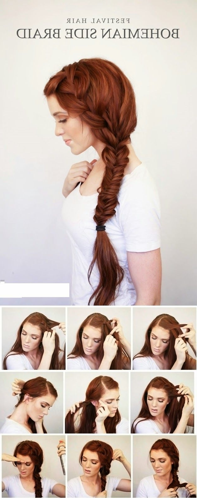 Teenage Fashion Blog: Bohemian Side Braid Festival Hair Tutorial With Regard To Famous Bohemian Side Braid Hairstyles (View 10 of 15)