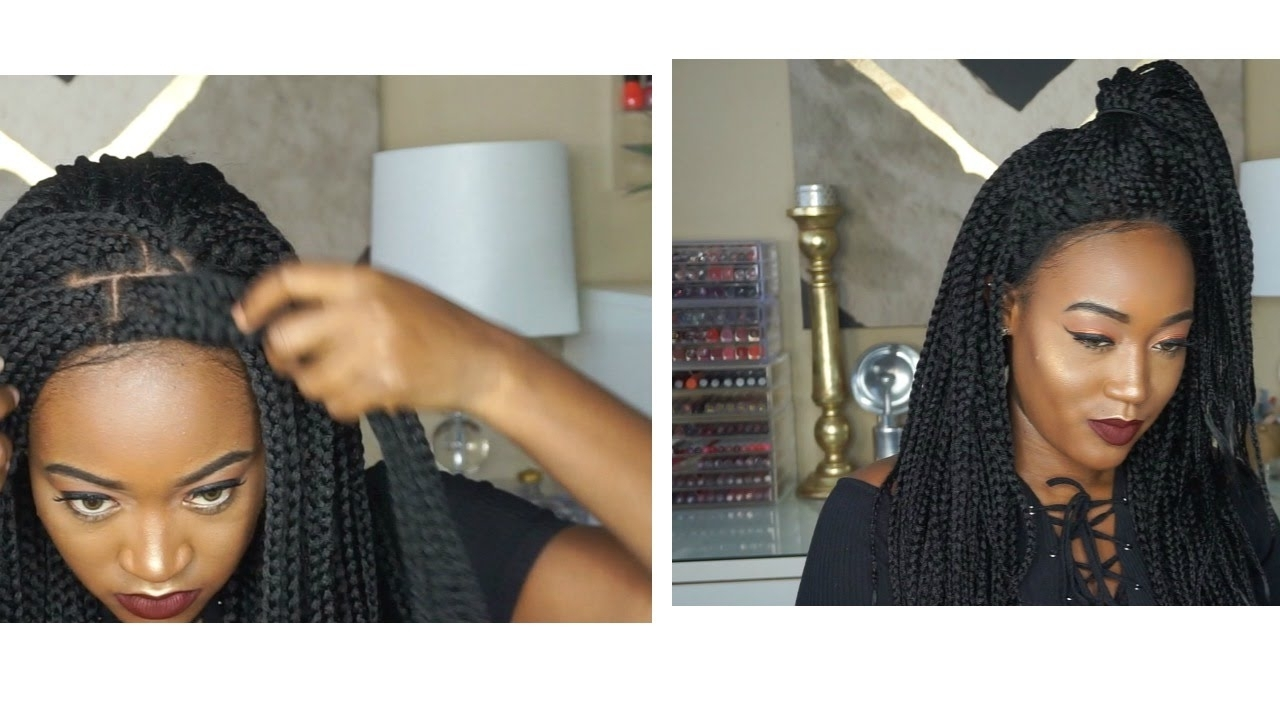 The Best Braided Wig??? Hair Republic Lace Front Box Braid Small In Recent Wigs Braided Hairstyles (View 2 of 15)