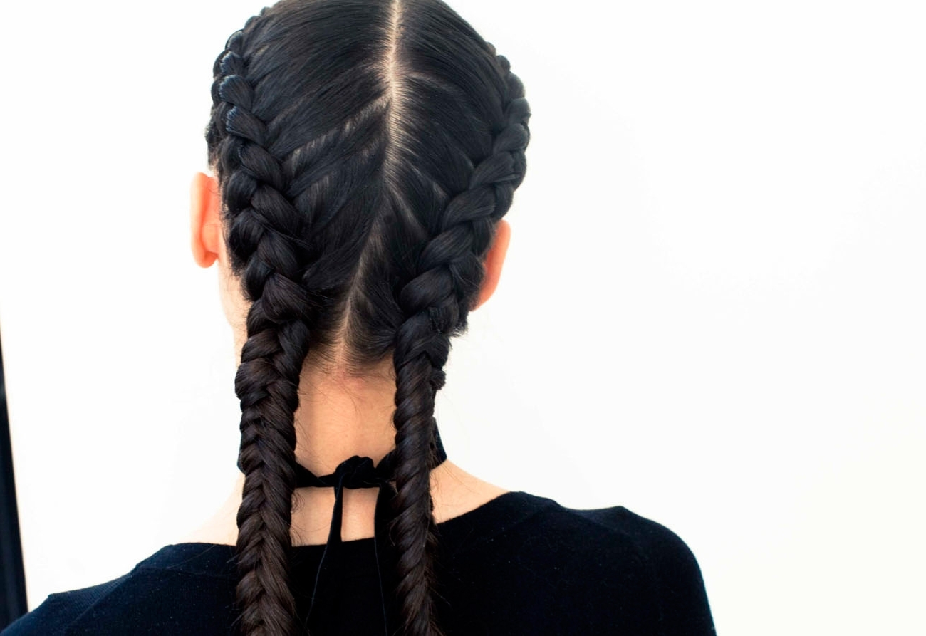 The Boxer Braid (aka Double French Braid): A How To – Coveteur In Trendy Two French Braids And Side Fishtail (View 7 of 15)