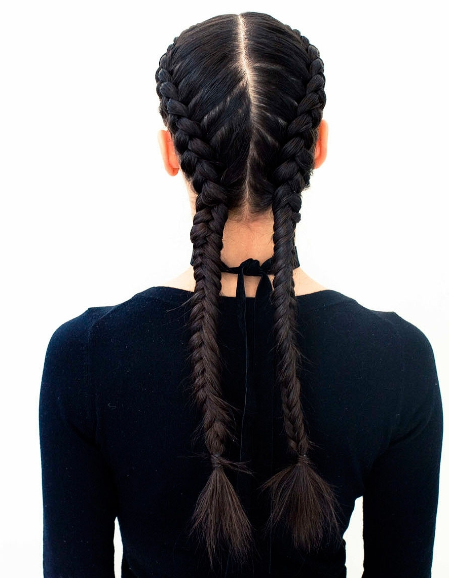 The Boxer Braid (aka Double French Braid): A How To – Coveteur Intended For Latest Two Extra Long Braids (View 9 of 15)