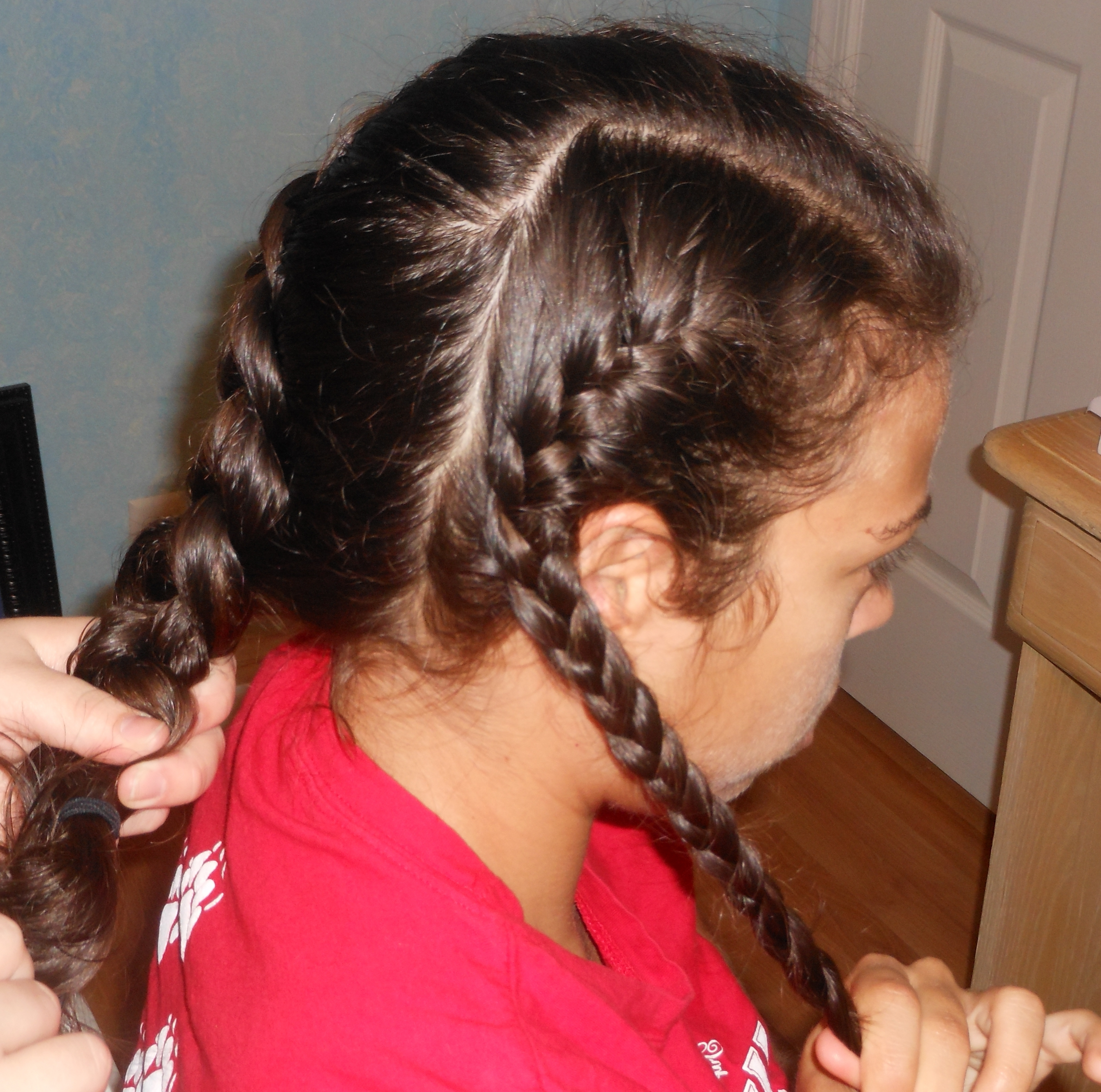 The Daily Frizz Inside Widely Used Diagonal Two French Braid Hairstyles (View 14 of 15)