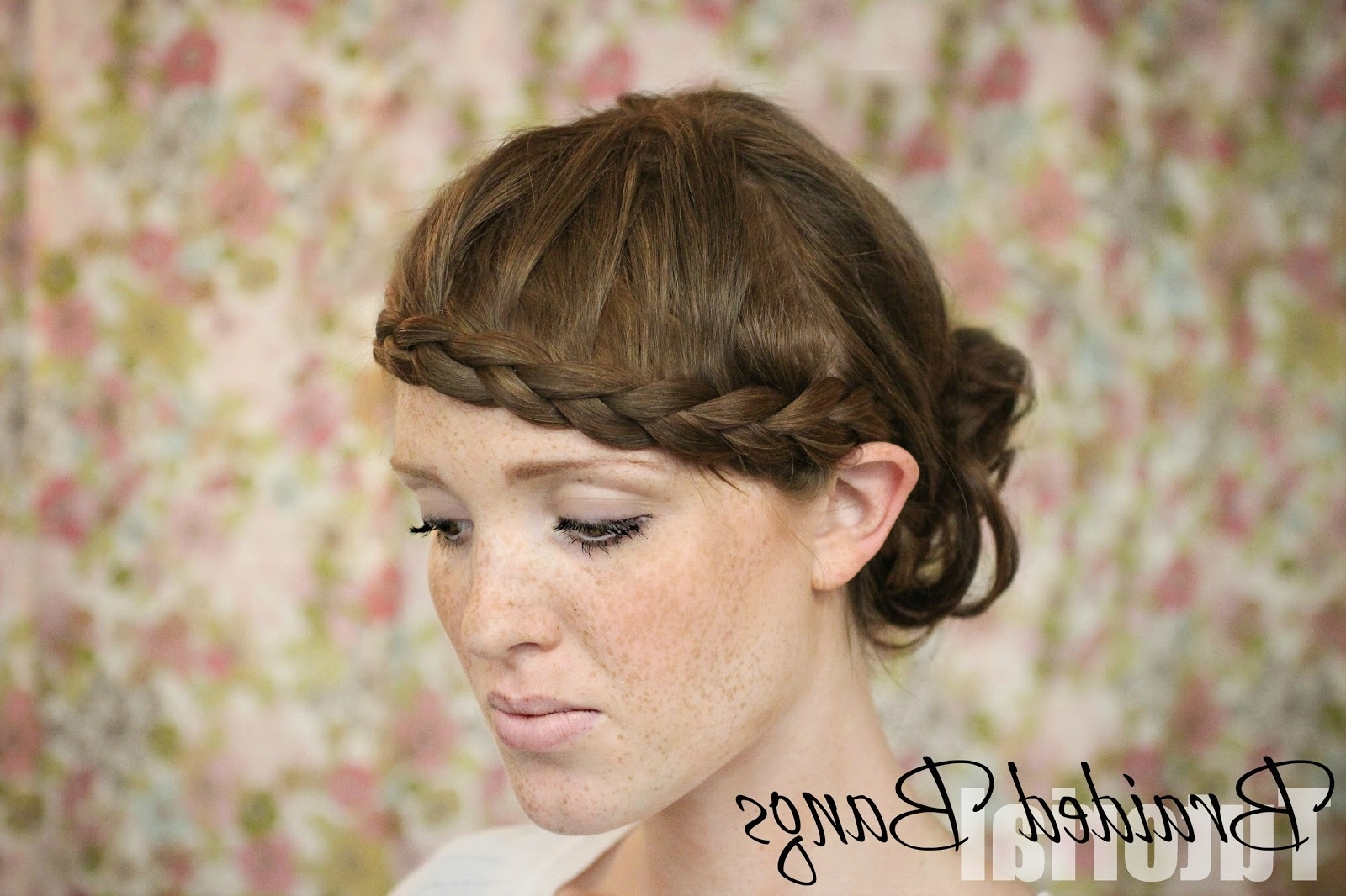 The Freckled Fox: Hair Tutorial // Braided Bangs With 2018 Braid And Side Bang Hairstyles (View 13 of 15)