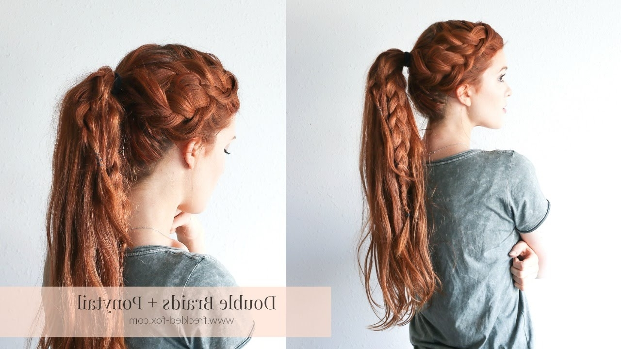 The Freckled Fox – Youtube Regarding Well Liked Two Quick Braids And Ponytail (View 2 of 15)
