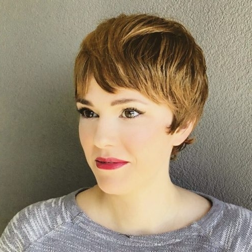 The Short Pixie Cut – 39 Great Haircuts You'll See For 2018 For Preferred Funky Blue Pixie With Layered Bangs (View 6 of 15)