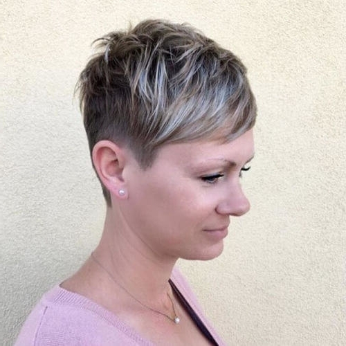 The Short Pixie Cut – 39 Great Haircuts You'll See For 2018 Pertaining To Preferred Ash Blonde Pixie With Nape Undercut (View 12 of 15)