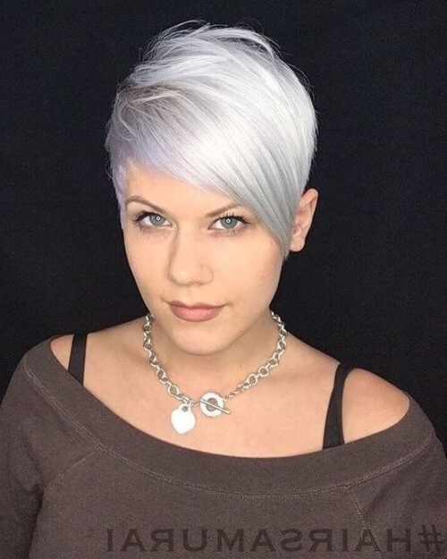 The Short Pixie Cut – 39 Great Haircuts You'll See For 2018 Regarding 2018 Ash Blonde Pixie With Nape Undercut (View 13 of 15)