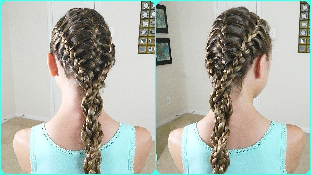 Photo Gallery Of Triple The Braids Hairstyles Viewing 1 Of