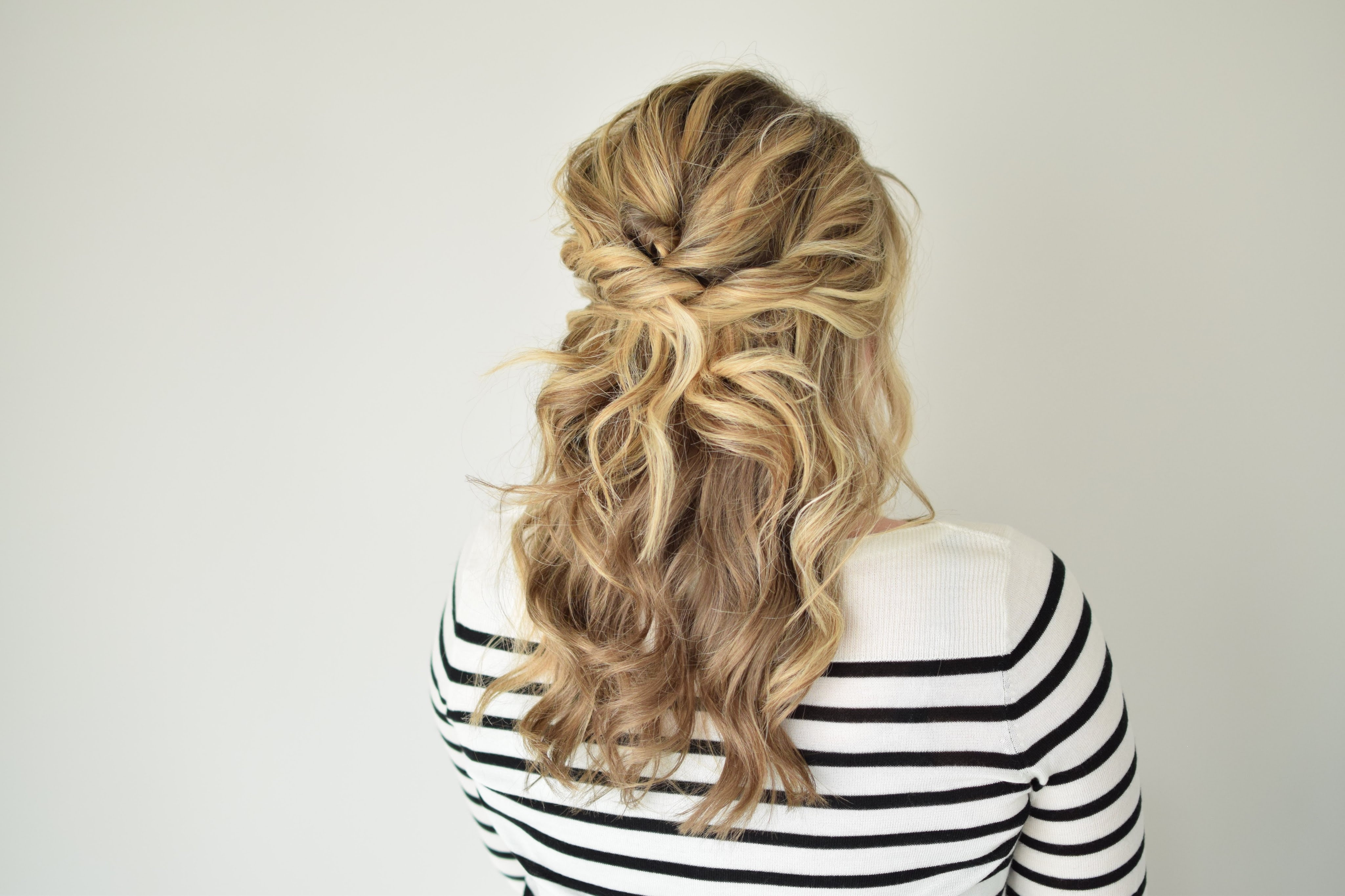 The Twisted Half Up – Youtube With Well Known Pinned Up French Plaits Hairstyles (View 14 of 15)