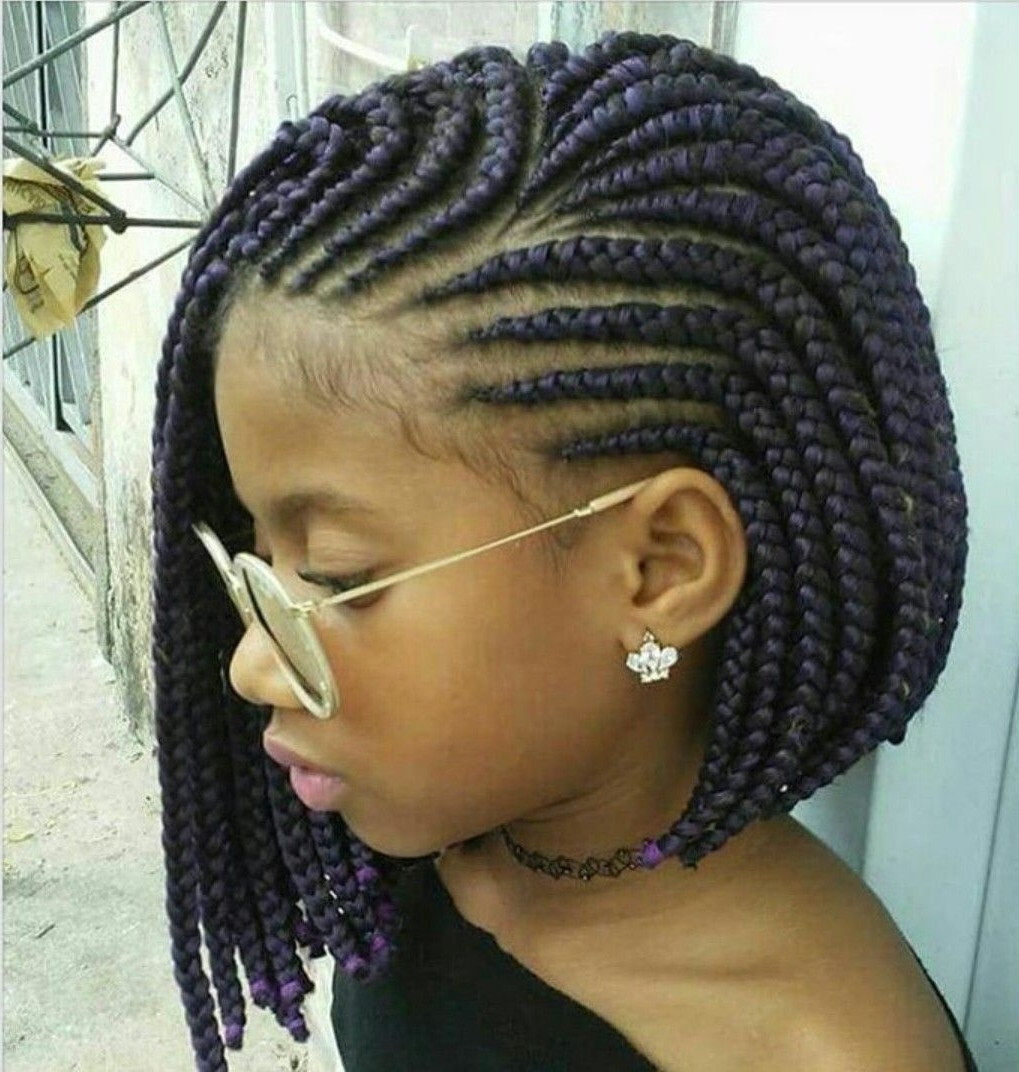 These 3 Cute Flat Twist Hairstyles Take Winning Prize – For Being With Regard To Best And Newest Cornrows Hairstyles For Kids (View 15 of 15)