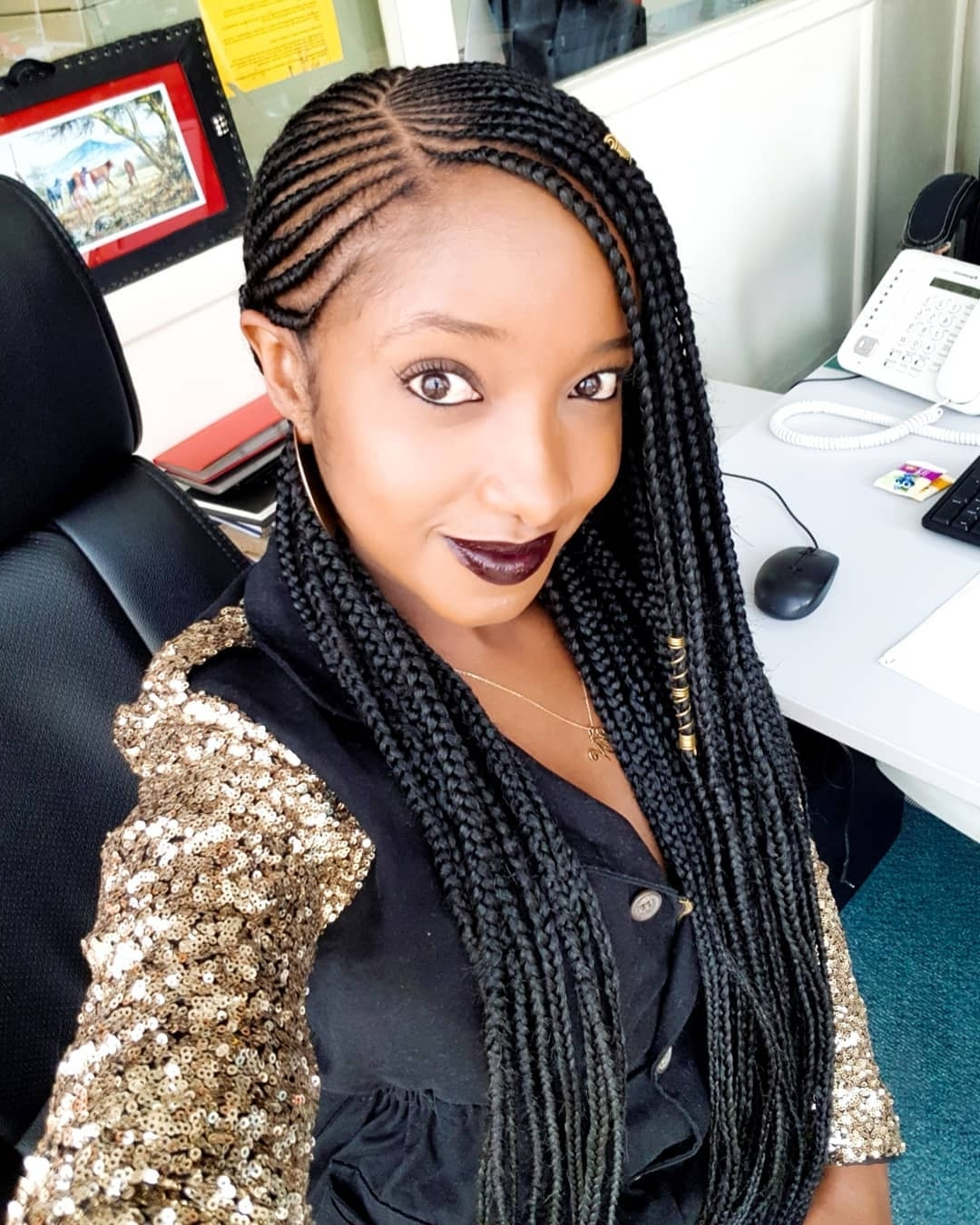 These 7 Kenyan Female Celebrities Are Rocking African Inspired Regarding 2018 Kenyan Cornrows Hairstyles (View 11 of 15)