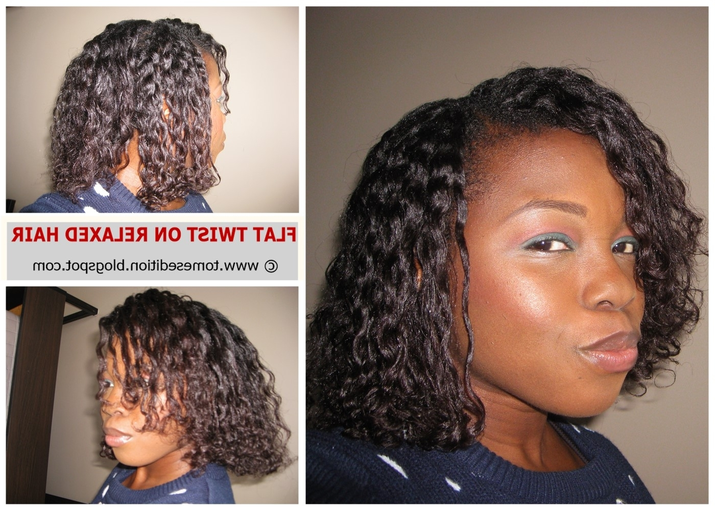 Tomes Edition: My Best Flat Twist Out On Relaxed Hair… Inside Well Known Flat Twists Into Twist Out Curls (View 12 of 15)