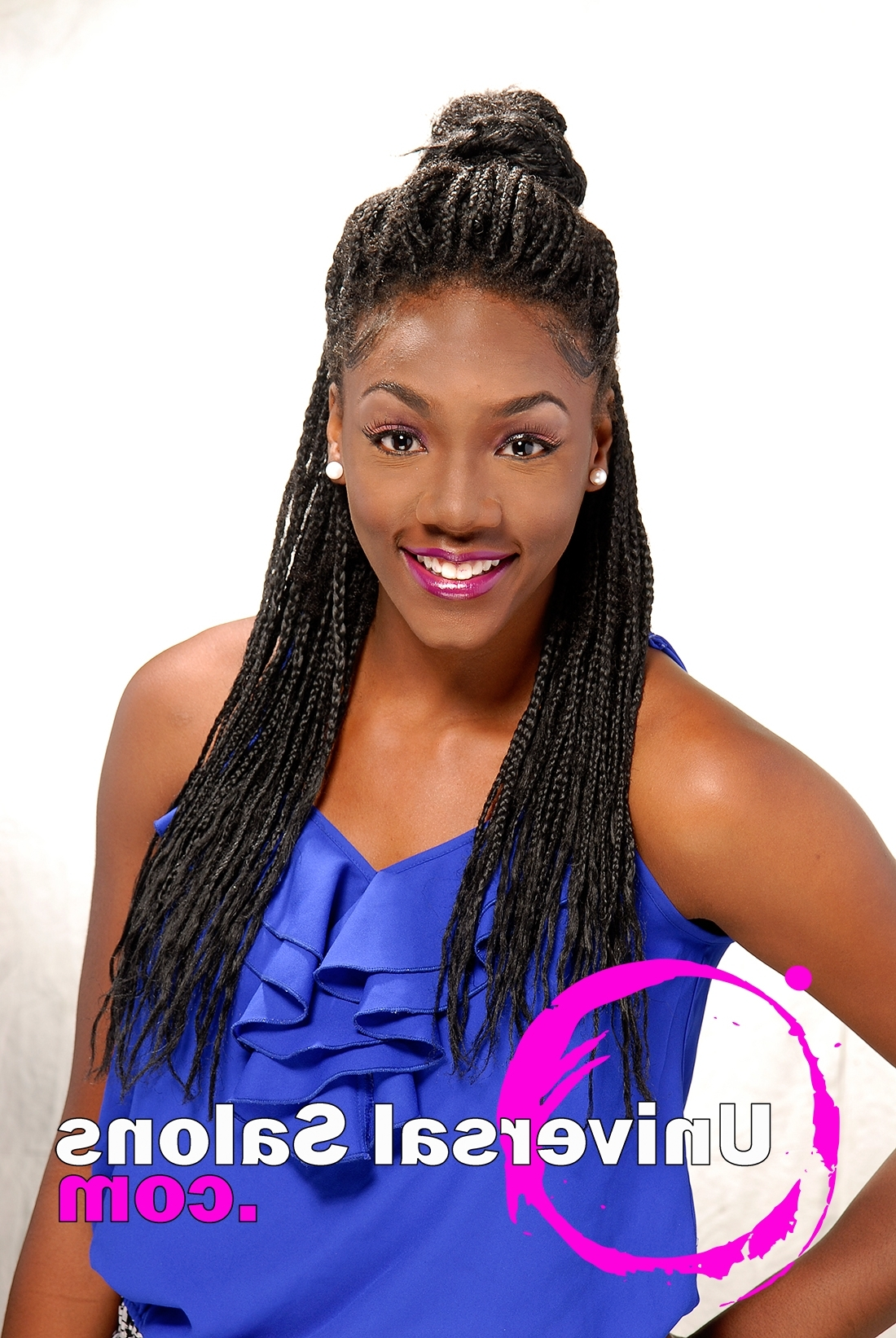 Tonisha Kenty's Natural Half Up/half Down Hairstyle With Regard To Preferred Half Up Half Down Cornrows Hairstyles (View 13 of 15)