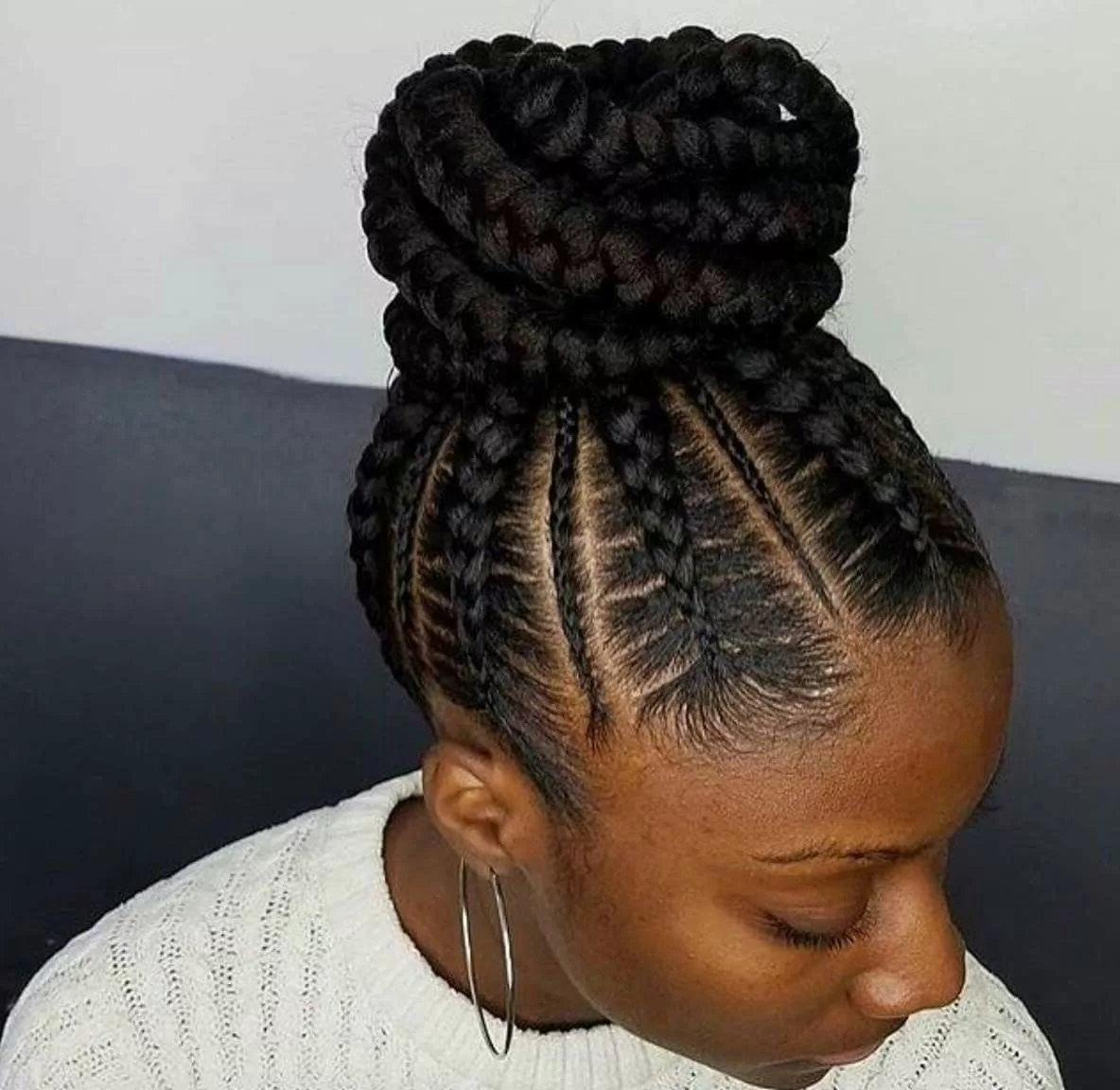 Top 10 African Braiding Hairstyles For Ladies (Photos) – Information With Recent Large Braided Updos (View 13 of 15)