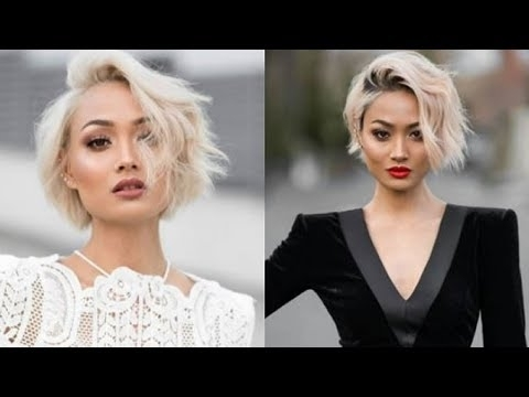 Top 10 Bleached Blonde Hairstyles For 2018 2019 : Short, Medium Long Within Latest Bleach Blonde Pixie Haircuts (View 13 of 15)