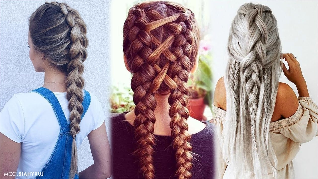 Top 10 Easy Braid Tutorials Beautiful Hairstyles 2018 – Youtube Regarding Well Known Top Braided Hairstyles (View 11 of 15)