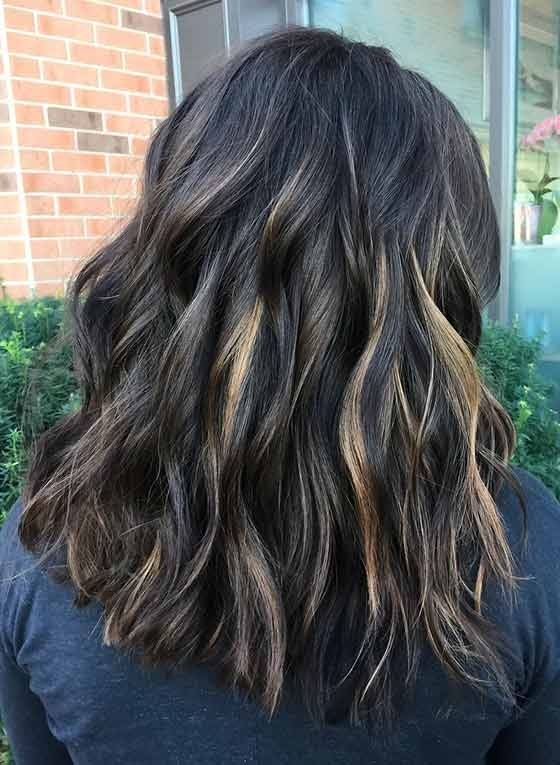 Top 30 Chocolate Brown Hair Color Ideas & Styles For 2018 With Most Current Piece Y Haircuts With Subtle Balayage (View 12 of 15)